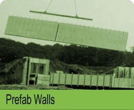Prefab walls information Polycrete prefab walls are built under ideal factory conditions and settings. This leads to superior quality, respect of schedule and competitive pricing. Prefab walls are easily and rapidly installed at the construction site with crane support. Prefab walls are also ready to receive interior finishing and exterior siding.