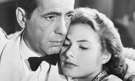 Ingrid Berman & Humprey Bogart Co-Star in Casa Blanca.