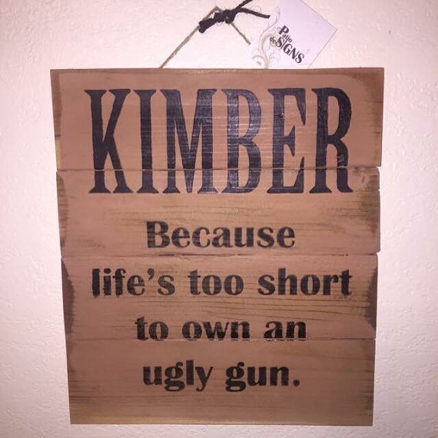 Surprise your special someone with this awesome custom wooden sign to go with their Kimber gun! $29.99 and shipped within 1-2 business days! Customization ! Please #repost this and like our page to stay up on all the latest with Patio deSIGNS! #sign #deal #love #gift #fun #patiodesigns #craftfair #kimber #sign #love #fun #craft #instalove #paint #woodwork #wood #art #youcanhaveone #etsy #gun #family #orderme #sign #gift #etsy #gunlover #gungift #gunsdaily #gungirl #gunguy by patiodesigns