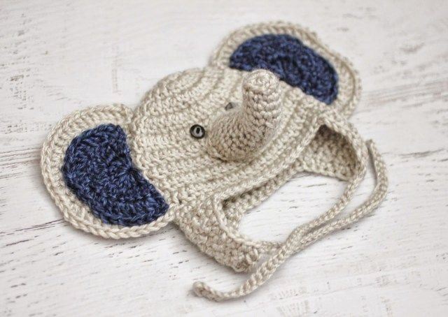 Crochet Baby Elephant Hat and Lion Brand Heartland Yarn Giveaway! - Repeat Crafter Me