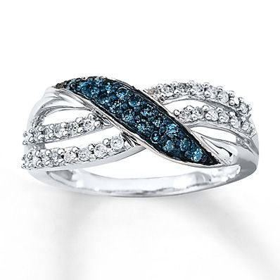 Artistry Diamonds Black Diamond Ring 5/8 ct tw Round-cut 10K White Gold UyF3P