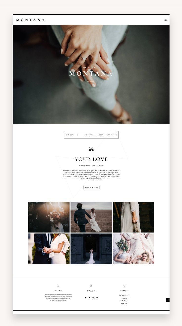 Montana Divi Child Theme Market Wp Themes In 2020 Photography Website Design Web Design Website Inspiration