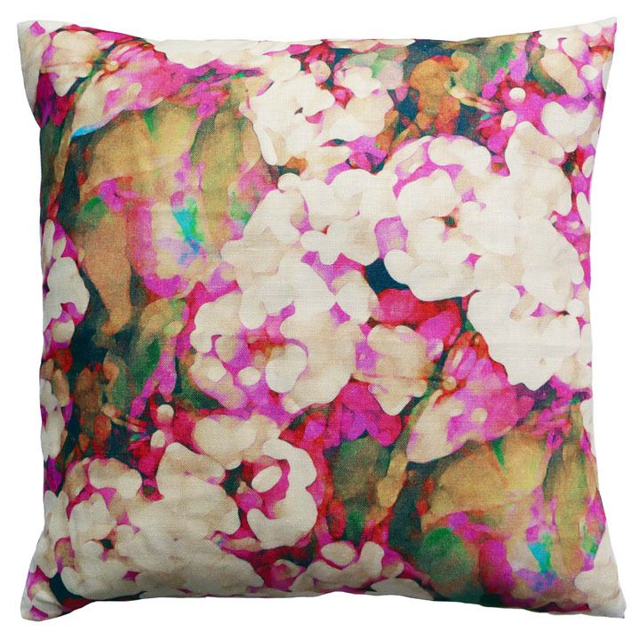 Cushion - Rosa -- like the colors...a lot (maybe we go navy or teal with gold and bits of hot pink or fucia?)