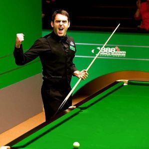 He's not only a snooker player. He's a showman.