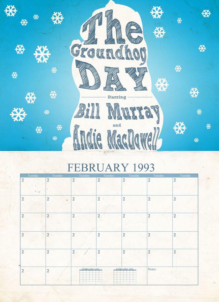 Groundhog Day (1993) ~ Minimal Movie Poster by Tommaso Valsecchi #amusementphile
