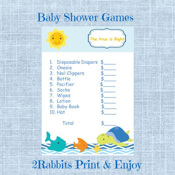 right baby shower game under the sea printable boy baby shower game