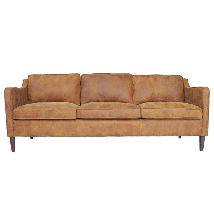 The Matt Blatt Norse 3 Seater Sofa - Leather - Matt Blatt