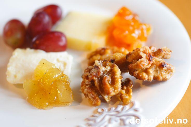 Glaserte valnøtter til ost