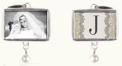 peronsonalized photo bride charm with your initial.