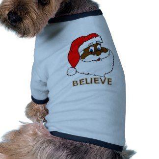 Black Santa Doggie Tshirt