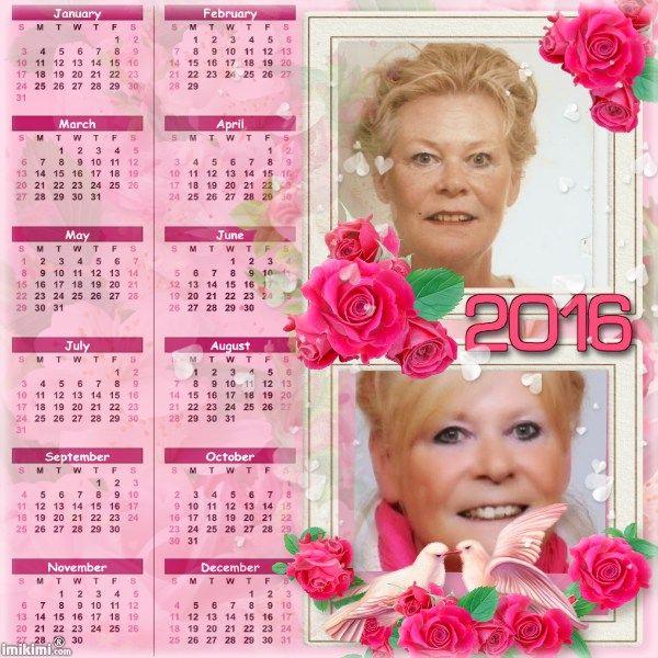 2016 Calendar Roses Dreams