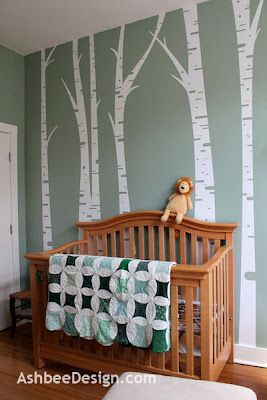 Love birch trees! reminds me of colorado!!! Birch trees in the nursery - Ashbee Design