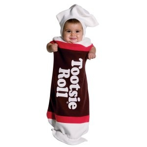Tootsie Roll Infant Costume (for candyland & tootsie roll sibling costumes)