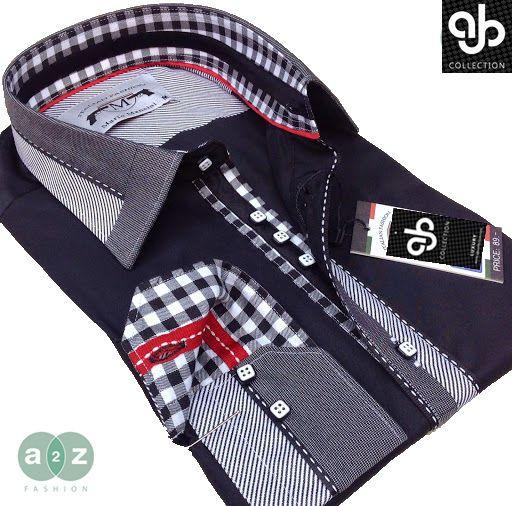 Brand New Mens Formal Black, White, Grey Smart Italian Designer Slim Fit Shirt | Clothes, Shoes & Accessories, Men's Clothing, Formal Shirts | eBay!
