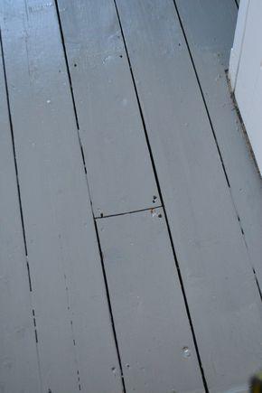 Painted Floorboards using Ronseal Diamond Hard Floor Paint (slate grey)