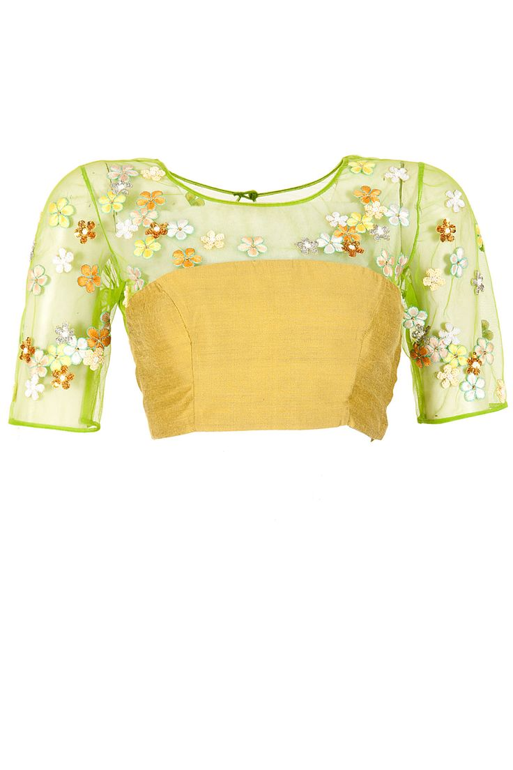 Green frangipani yoke blouse available only at Pernia's Pop-Up Shop.