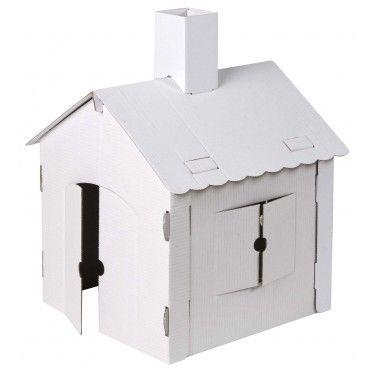 Klein kartonnen speelhuisje1