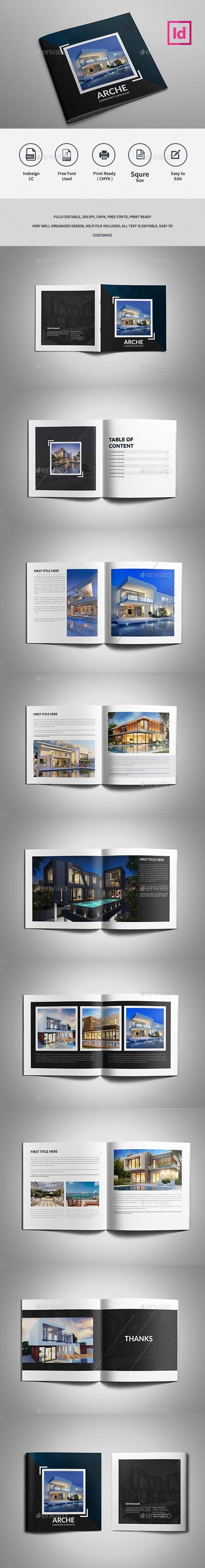 Architecture Catalog Brochure - #Catalogs #Brochures Download here:  https://graphicriver.net/item/architecture-catalog-brochure/19271401?ref=alena994