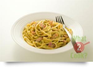 Pasta Carbonara with Basil & Chilli
