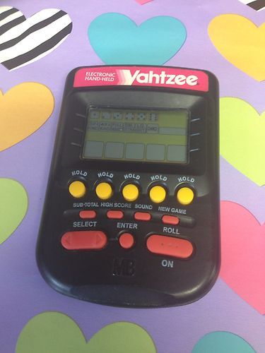 electronic yahtzee handheld dice game travel pocket model 4511