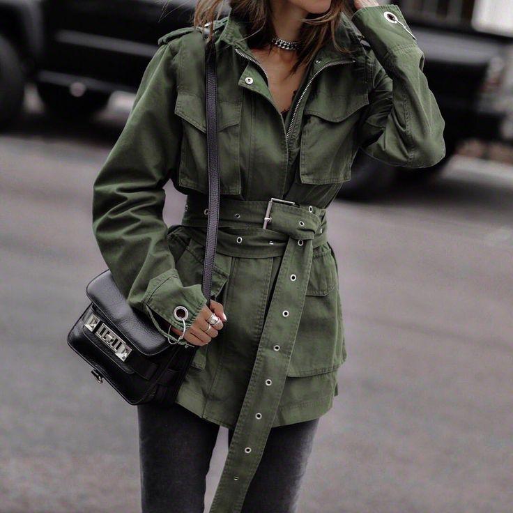 стиль милитари в женской одежде фото