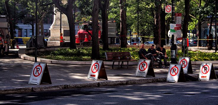 No Parking Montreal #parking #park #workers
