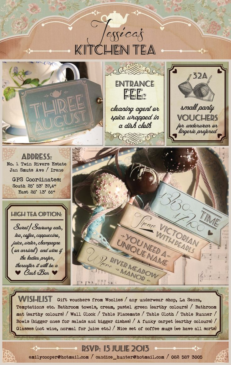 kitchen tea invitations kitchen shower tea ideas hens forward vintage