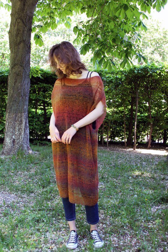 d18976491d Oversized long mohair sweater dress Loose knit sleeveless sweater vest plus  size Bohemian clothing H