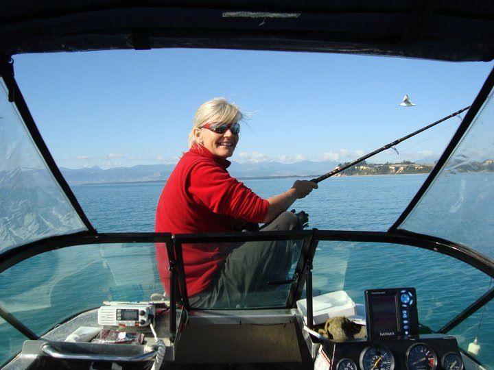 Fishing in Kina Bay NZ