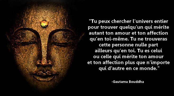 Citations option bonheur: Aime-toi, citation de Bouddha