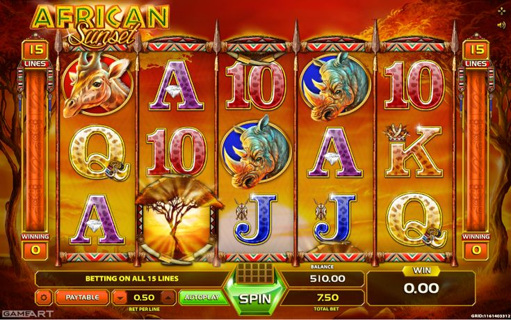 African Sunset - http://www.777free-slots.com/free-slot-online-african-sunset/
