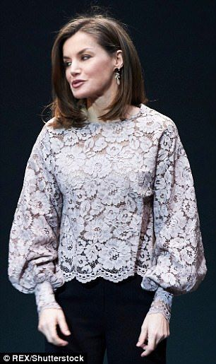 Letizia's choice to wear an oversize blouse is unusual for royal women who n…