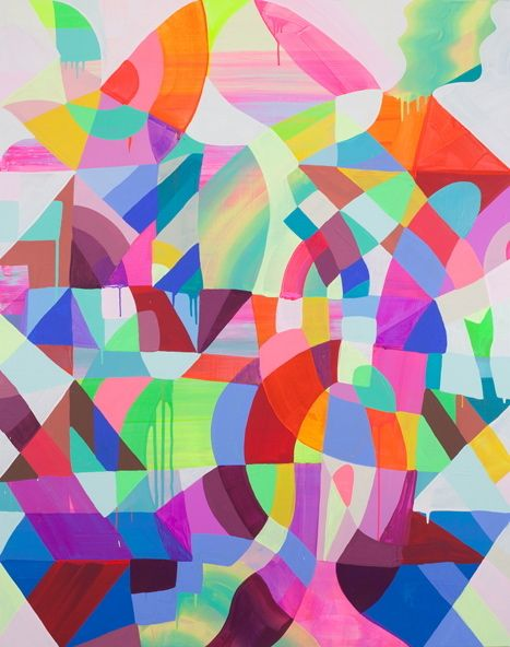MAYA HAYUK - LIGHT HEAVY 029 - DIE KUNSTAGENTIN http://www.widewalls.ch/artwork/maya-hayuk/light-heavy-029/ #painting