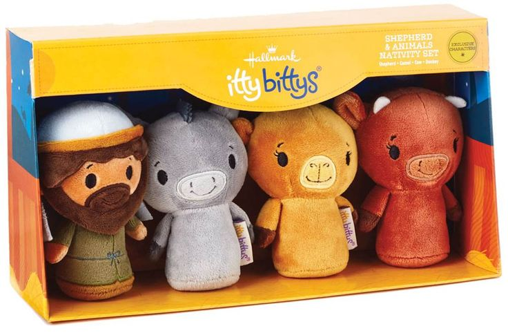Plush Nativity Shepherd and Animals Add-on Set Complement the original Nativity Set with this Shepherd & Flock Nativity Set to give your child additional fun-filled moments of meaningful play. A perfect way to share the true meaning of Christmas with children.