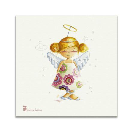 Original cuadro con un tierno angelito para decorar la habitación de los niños. Incluye colgador.