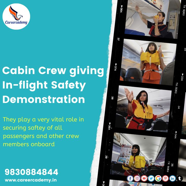 Cabin Crew play a very vital role in securing safety of