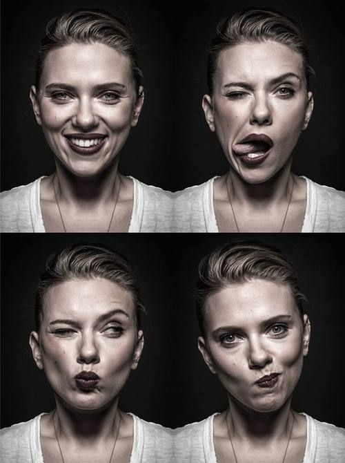 Scarlett Johansson ★ || Animate || portrait, expressions, faces, female beauty, so different, photo