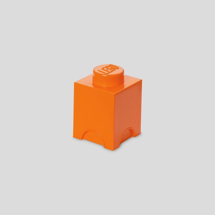 LEGO Storage, Brick 1, Orange, Design by Room Copenhagen