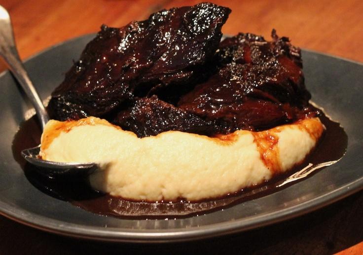 MoVida   Carrillera de Buey- Slowly Braised Beef Cheek in Pedro Ximenez on Cauliflower Puree