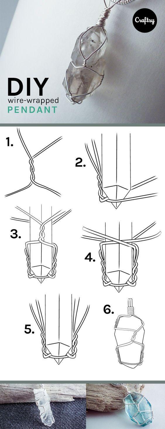 Fabriquer un pendentif en pierre filée en 5 étapes simples