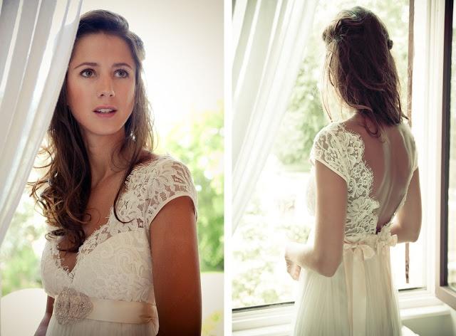 les moineaux de la mariée robe de mariée claire pettibone dentelle décolleté dos