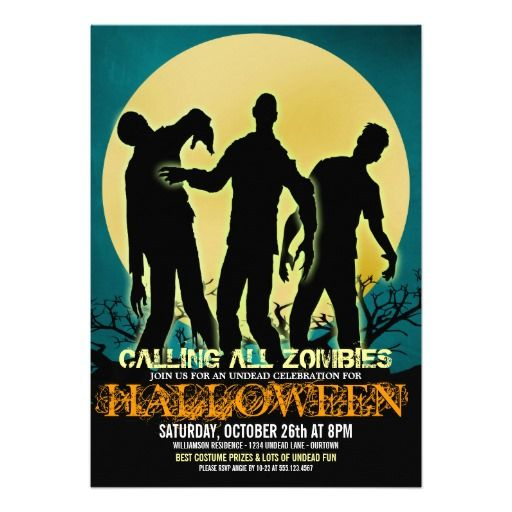 163 Best Halloween Party Invitations Images On Pinterest