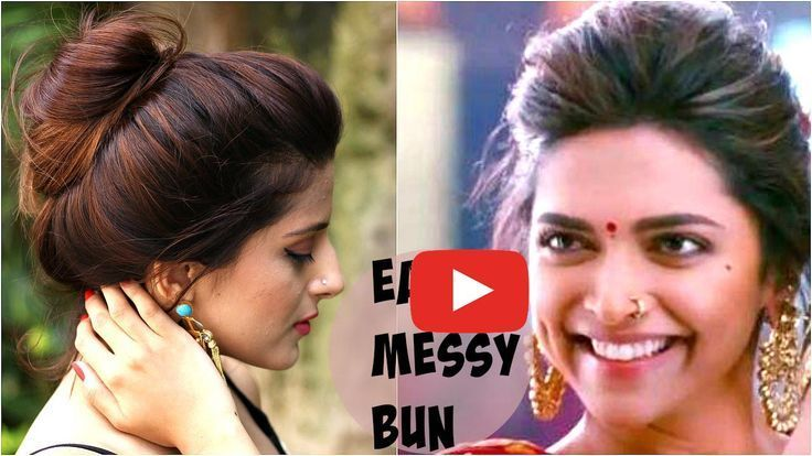 3 EASY Everyday Messy Bun Hairstyle for School, College, Work, # Tiny #CollegeWork #Easy #All ... - #Hair #college