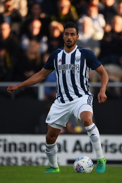 Nacer Chadli of West Bromwich Albion in action during the pre season friendly match between Burton Albion and West Bromwich Albion at Pirelli Stadium on July 26, 2017 in Burton-upon-Trent, England.
