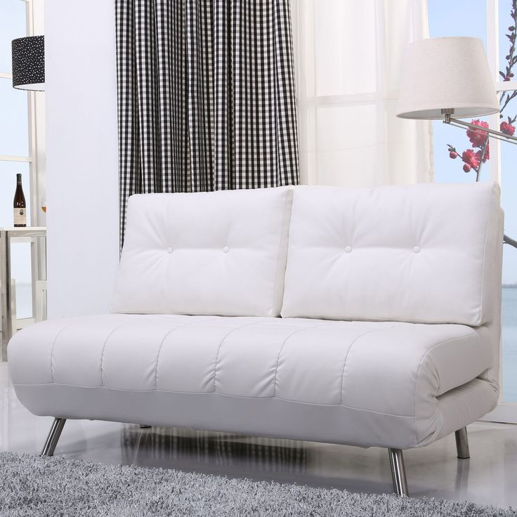 Gold Sparrow Tampa White Convertible Loveseat Sleeper | Overstock.com Shopping - The Best Deals on Sofas & Loveseats