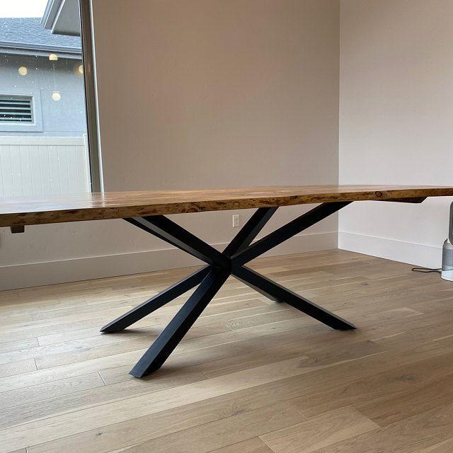 Dining Table Desk Industrial Table I-Beam Table Legs Table Industrial X Table Legs Steel Legs set of 2 Desk Legs
