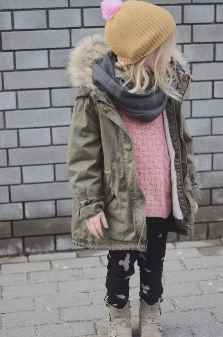 love this kids style. the hat. the scarf. the coat. the fur. so cute. Women, Men and Kids Outfit Ideas on our website at 7ootd.com #ootd #7ootd