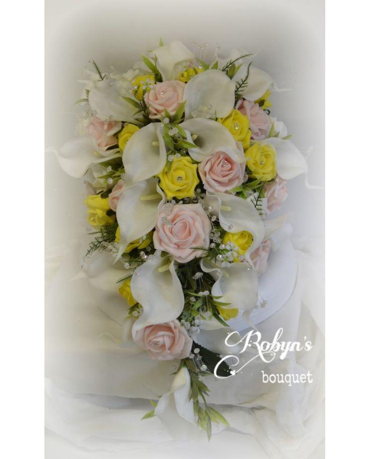 Tear Drop Brides Bouquet - A UNIQUE Cascade BOUQUET DESIGNED TO SUIT YOUR COLOUR THEME