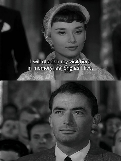 From Roman Holiday with handsome, Gregory Peck.
