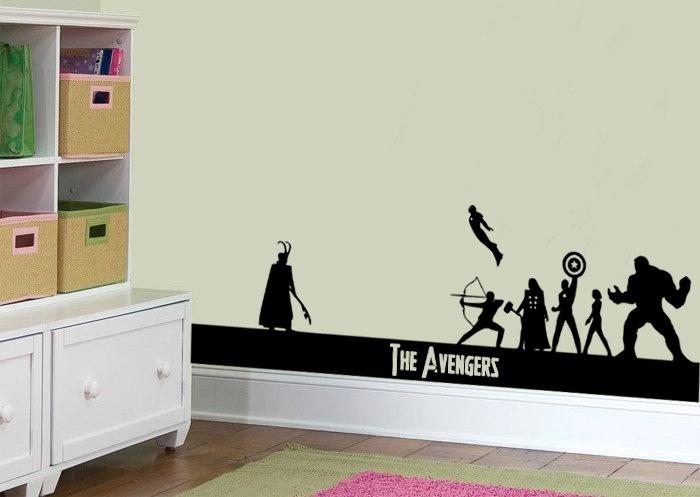 The Avengers Assemble Wall Sticker Scene Vinyl Art Decal